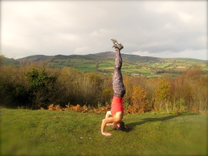 Full, straight headstand