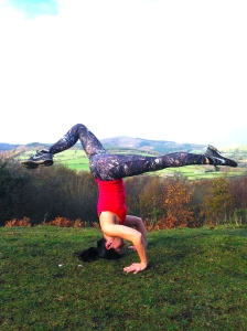 Use gravity to increase the stretch. Splitting the legs can help balance too as your legs counterbalance each other